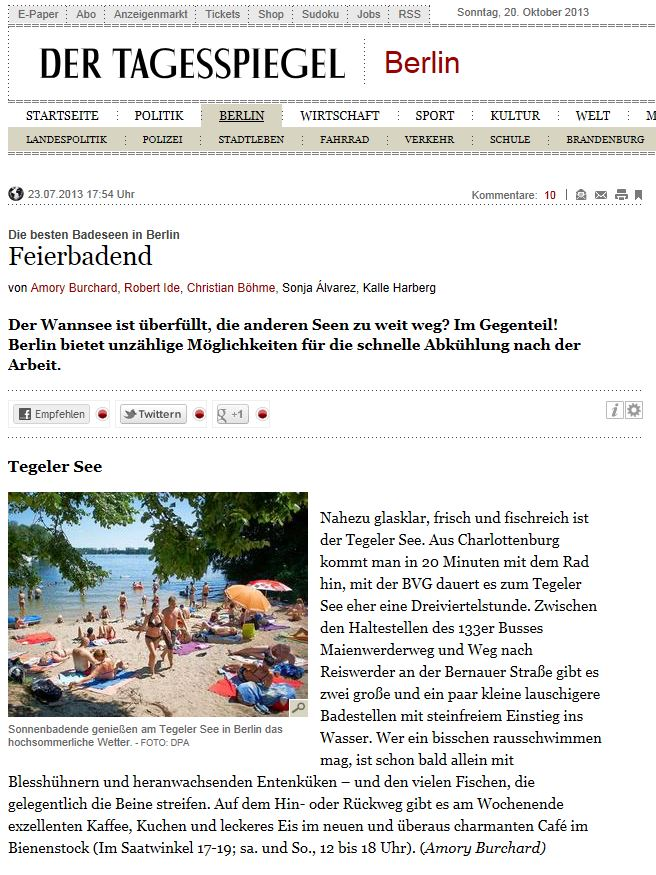 Publikation Tagesspiegel